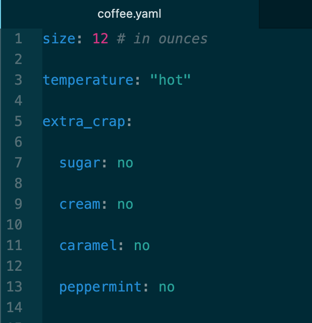 Coffee Config